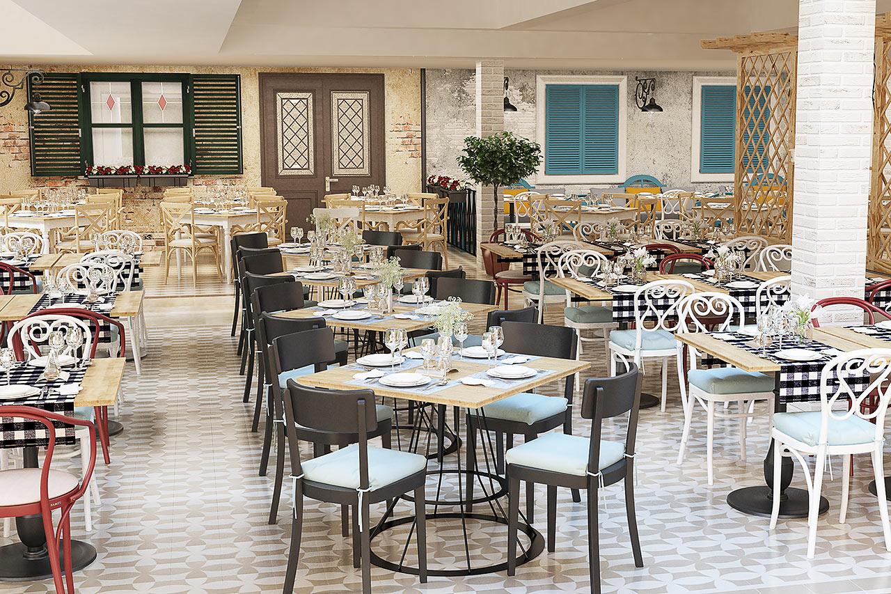 Buffeene serveres i en restaurant 150 meter fra Kaliopa. Bildet er en illustrasjon og kan bli endret.