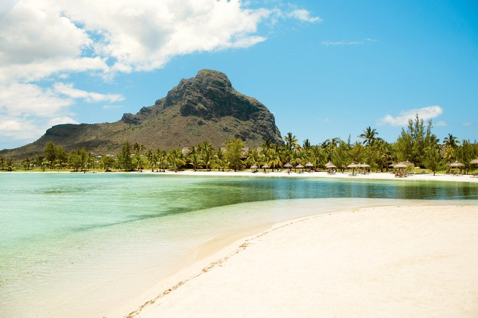 Stranden ved Paradis Hotel, Le Morne, Mauritius