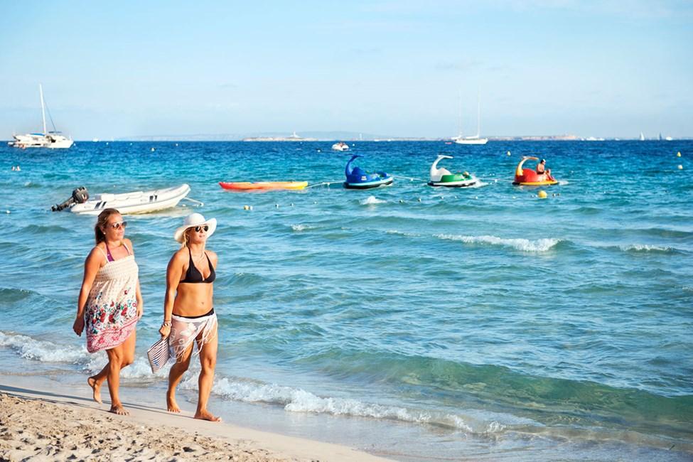 Las Salinas-stranden sør for Playa d'en Bossa