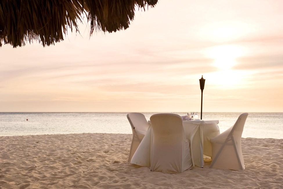 En romantisk middag i solnedgang?