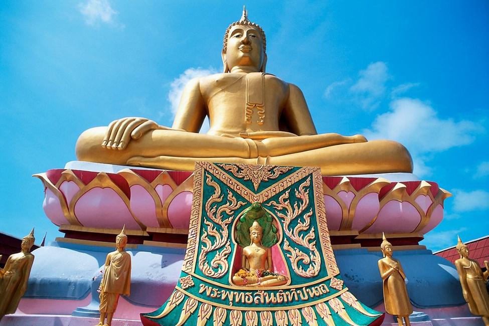 Wat Phra Yai er det største buddhistiske tempelet på Koh Samui, vel verdt et besøk.