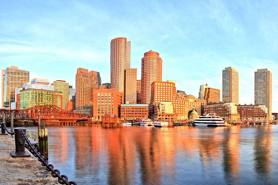 Bostons havn og finansdistrikt