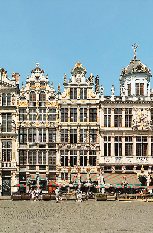 Vakker arkitektur på Grand-Place