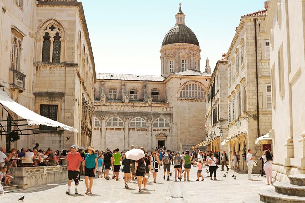Innenfor bymuren i Dubrovnik