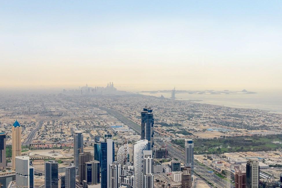 Utsikt fra toppen av Burj Khalifa