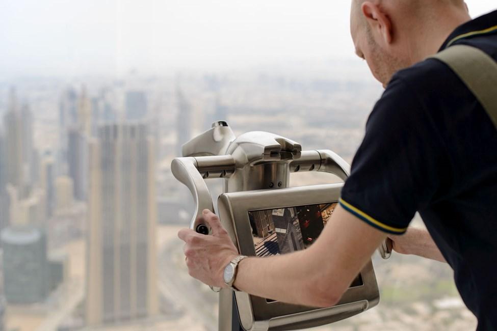 Utsikt fra Burj Khalifa, Downtown Dubai