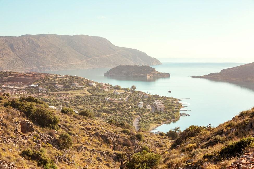 Utsikt over øya Spinalonga