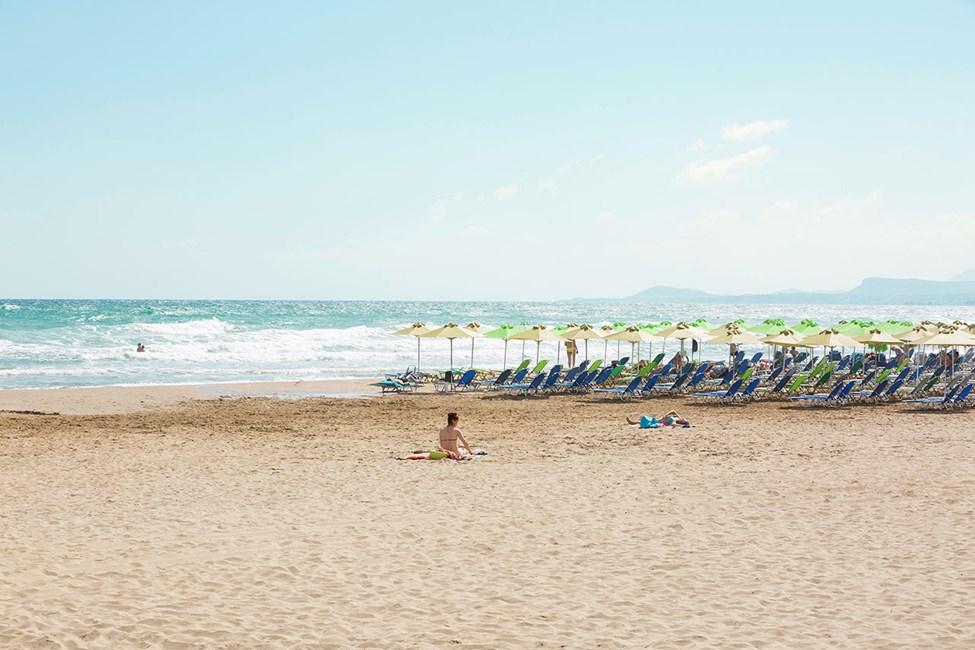 Stranden i Rethymnon