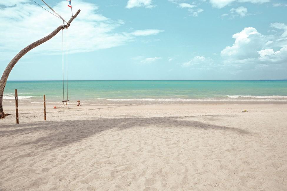 Den vakre, kritthvite White Sand Beach