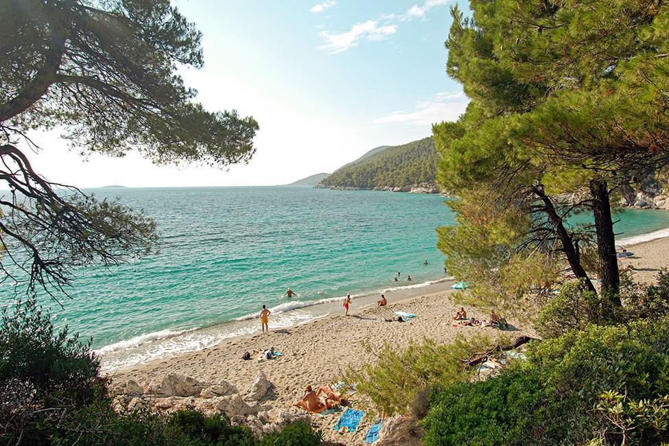 """Kastani Beach – stranden fra en av scenene i """"Mamma Mia"""""""