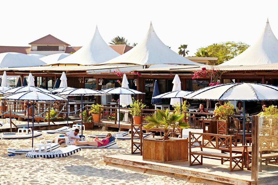 Strandbaren på hotell Morabeza Beach