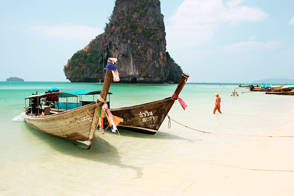 Phra Nang Beach, ved siden av Railay Beach, Krabi