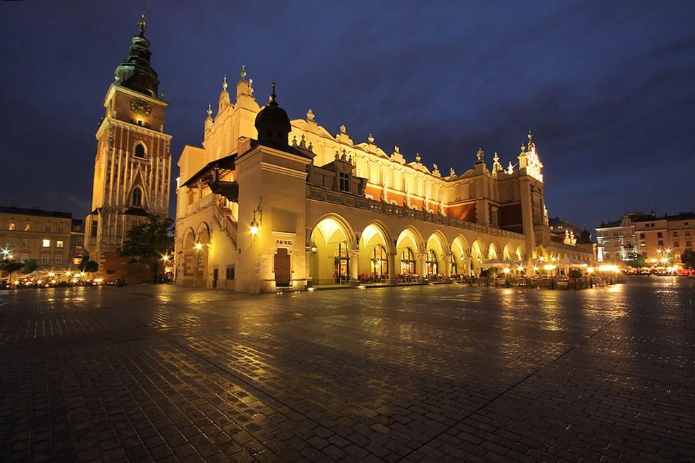Markedsplassen i Krakows gamleby