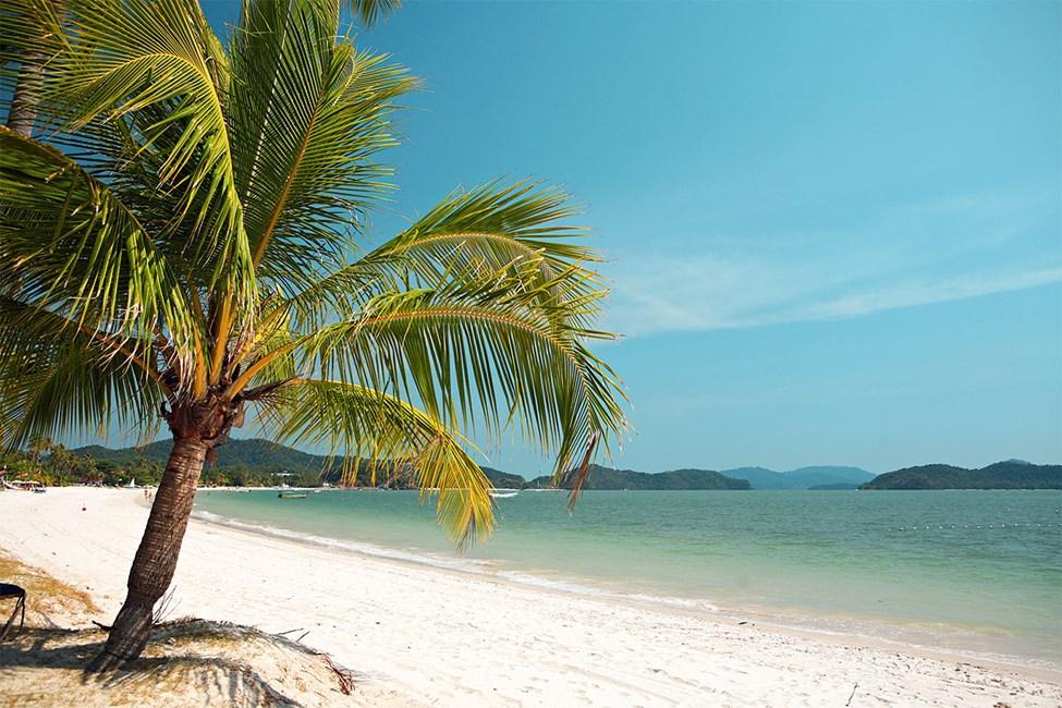 Stranden i Pantai Cenang