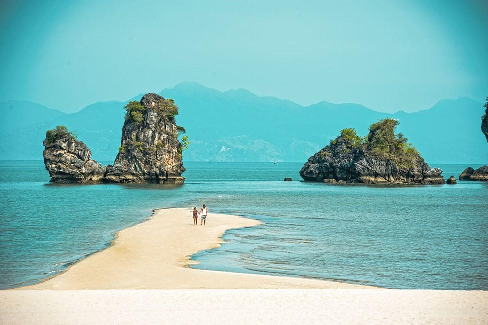 Stranden i Tanjung Rhu
