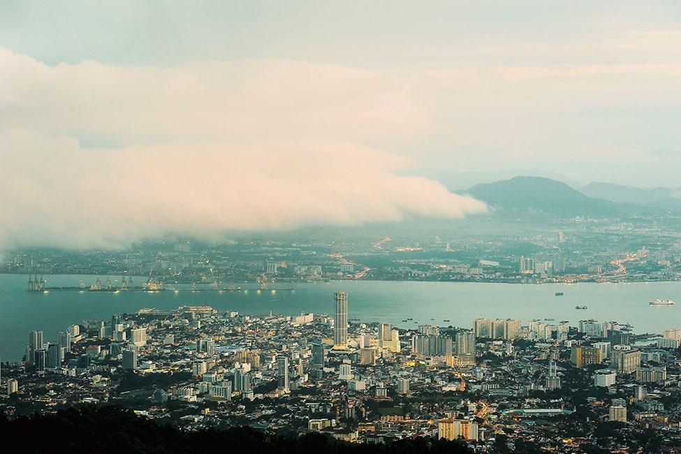 Utsikt fra Penang Hill