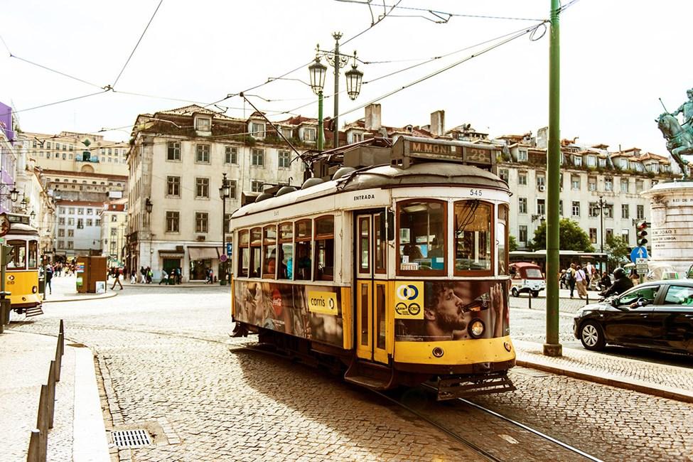 Den gamle trikken i Lisboa