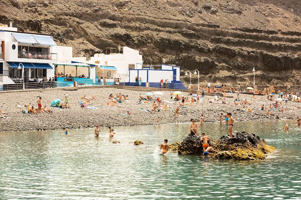 Stranden i Puerto de las Nieves