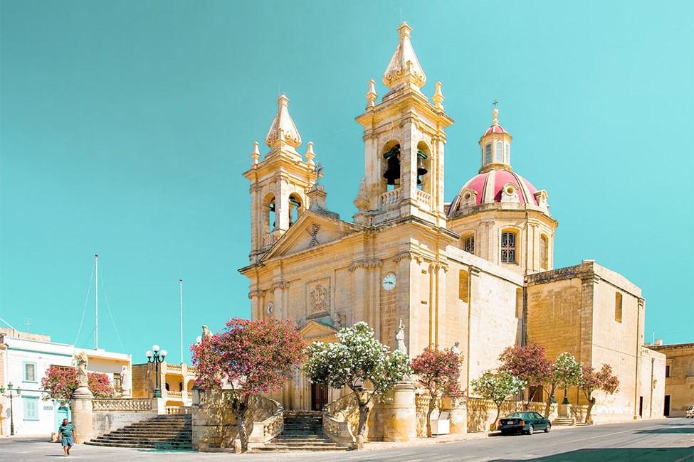 Landsbyen Sannat sør på Gozo
