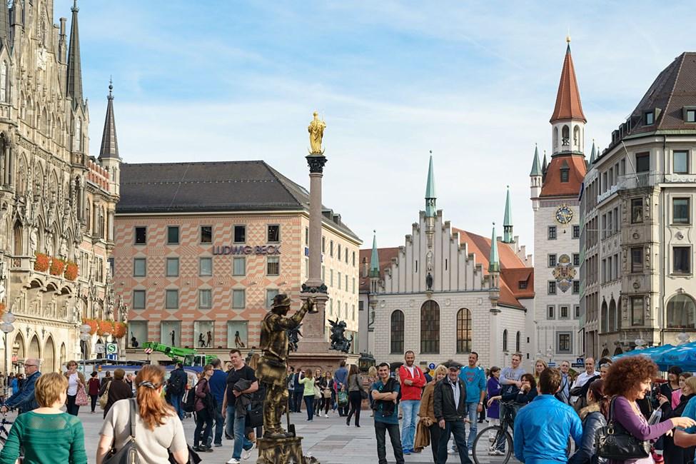 Neues Rathaus (New Town Hall ) ved Marienplatz