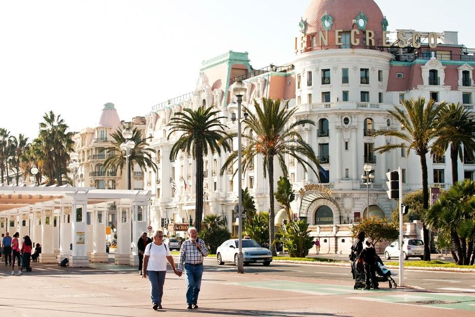 Hotel Negresco på Promenade des Anglais