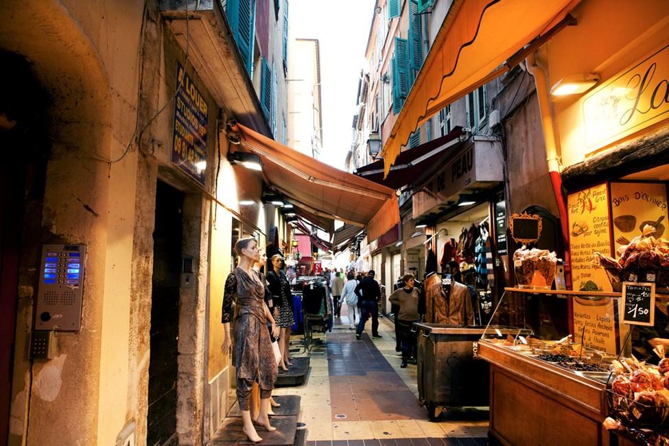Gamlebyen i Nice