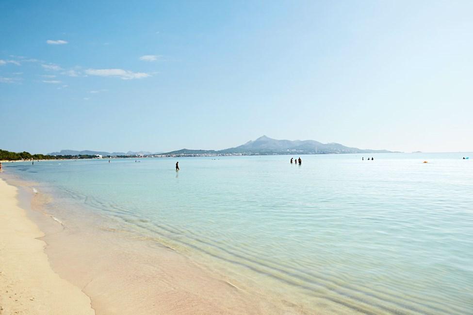 Stranden utenfor Sunwing Alcudia Beach