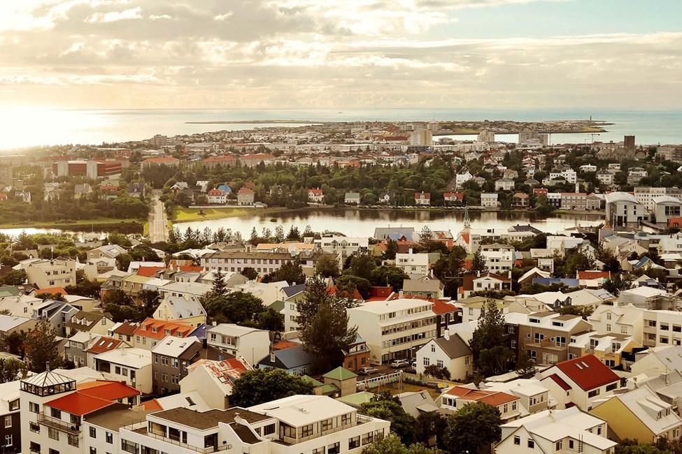 Utsikt over Reykjavik