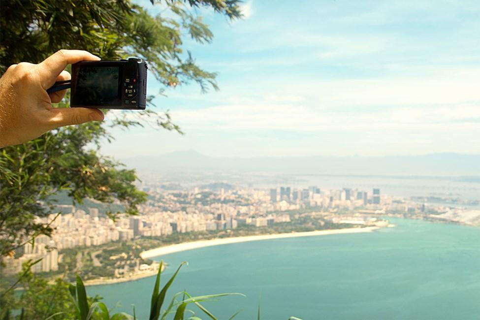 Utsikt fra Sukkertoppen over Rio de janeiro