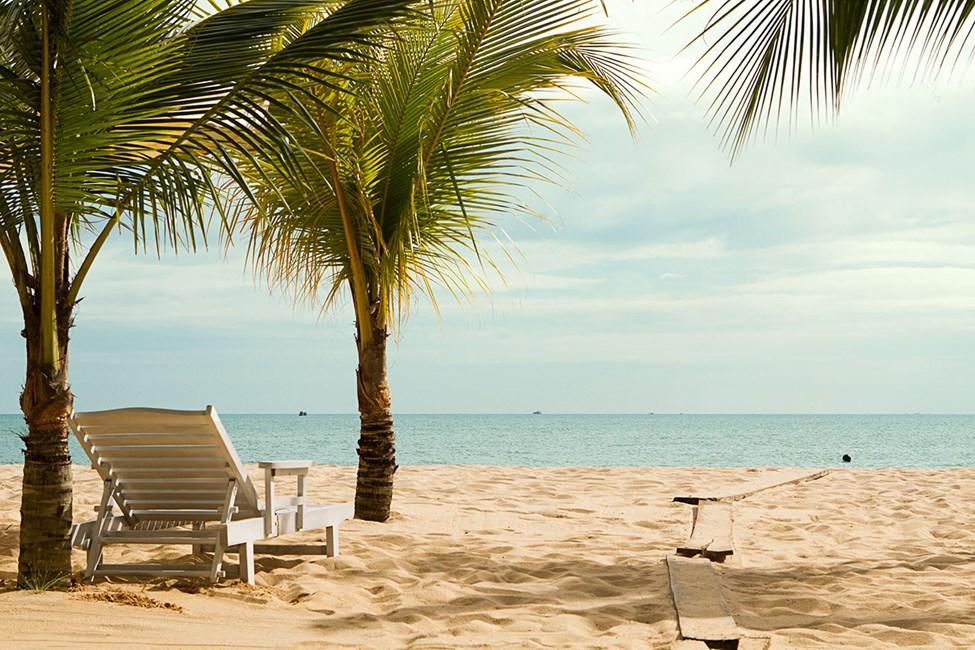 Stranden ved Vings hotell Chez Carole Resort