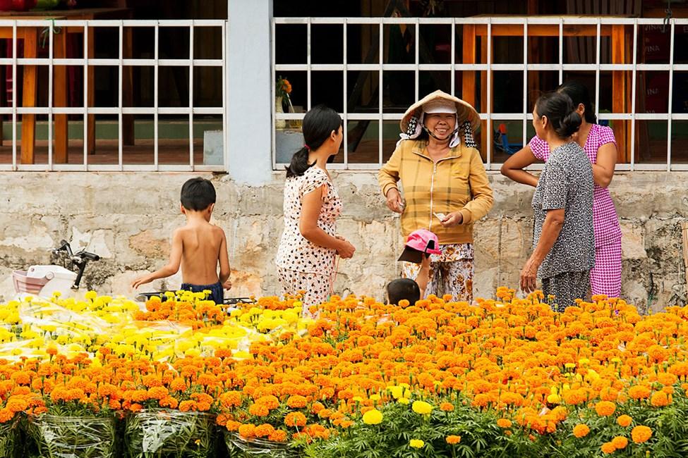 Gatemarkedet inne i Duong Dong