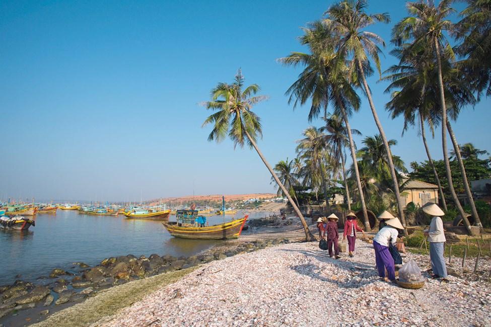 Kvinner i fiskerlandsby, Mui Ne