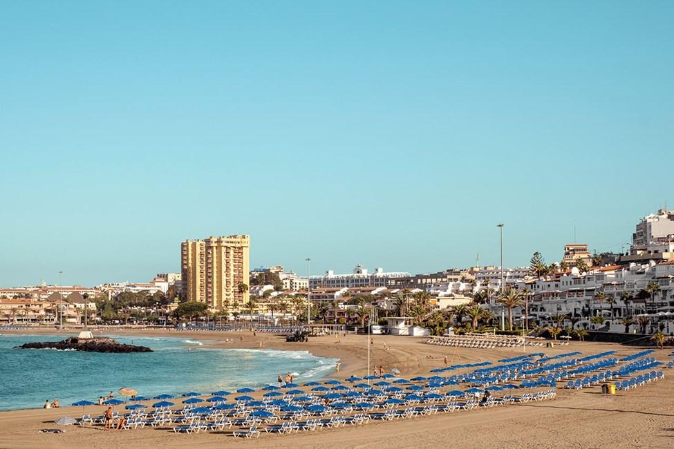 Den brede stranden Playa de las Vistas