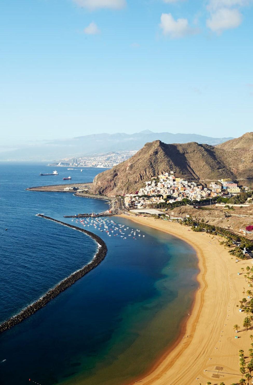 Playa de las Teresitas, ca. 7 kilometer fra Santa Cruz