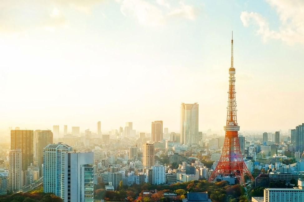 Tokyo Tower og utsikt over omgivelsene