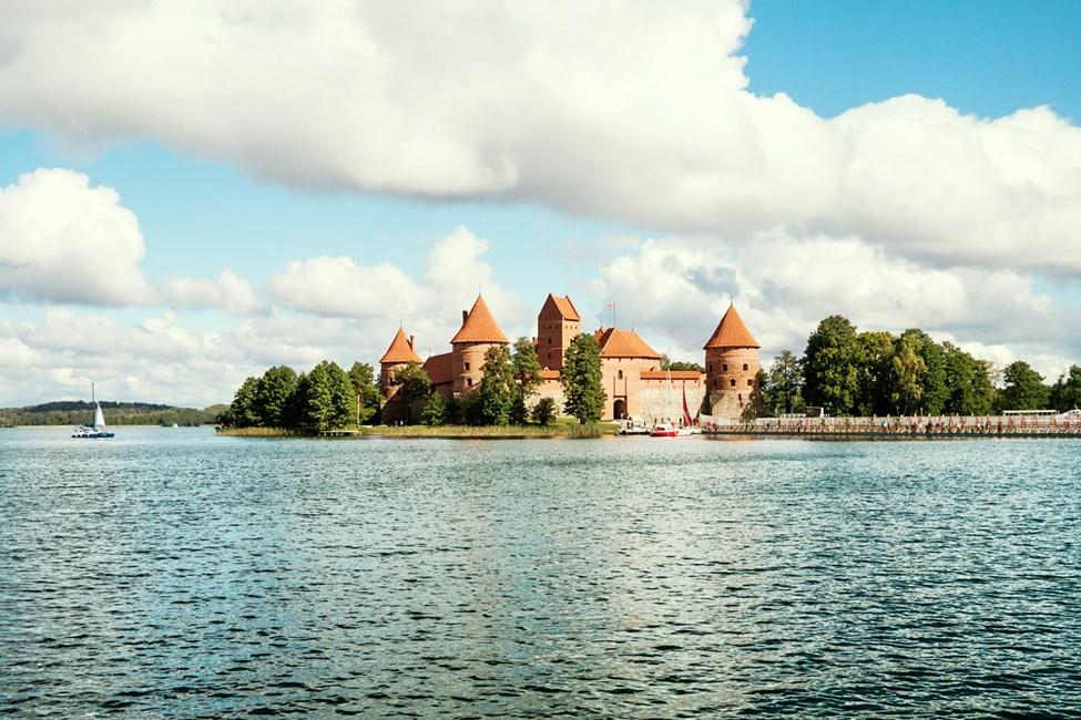 Slottet Trakai utenfor Vilnius