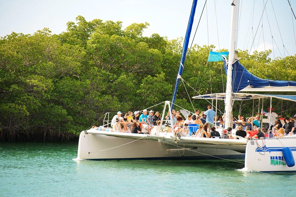 Dette er vår mest populære båtutflukt – bli med til havs i en katamaran