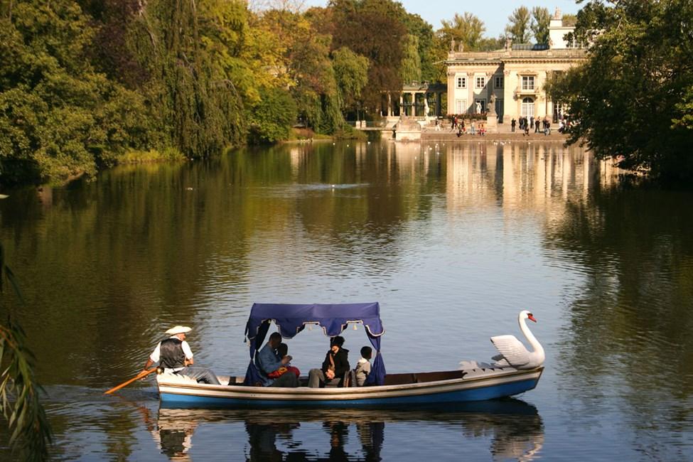 Lazienki-parken - en grønn oase i Warszawa