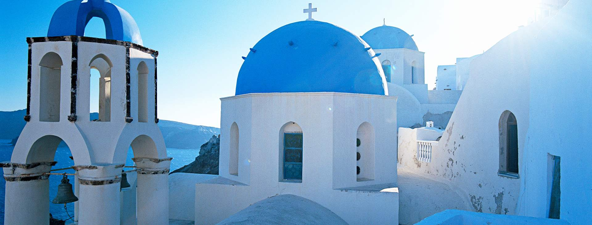 Reiser til den greske øya Santorini