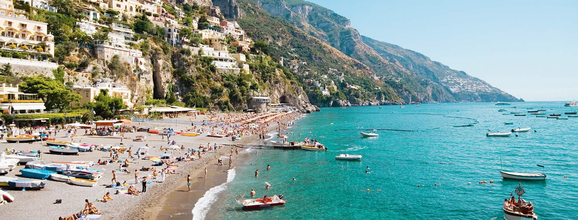 Reiser til Positano på Amalfikysten i Italia
