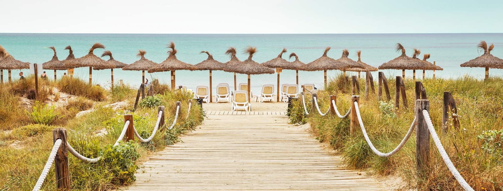 Bestill en reise til barnevennlige Ca'n Picafort på Mallorca