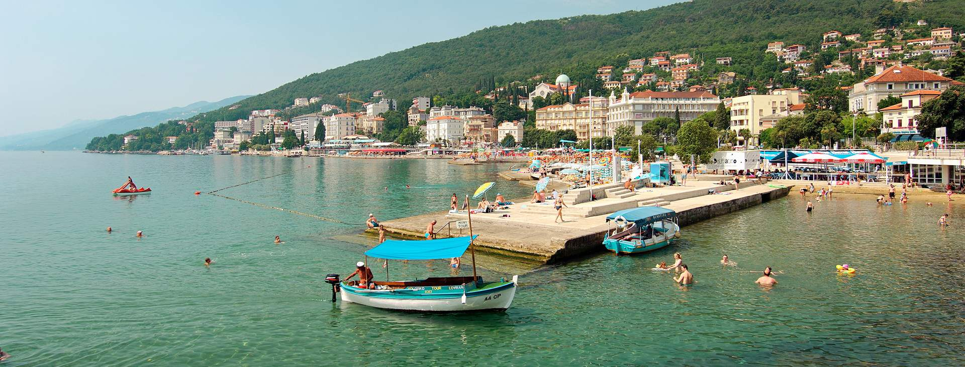 Reiser til Opatija på Istria i Kroatia