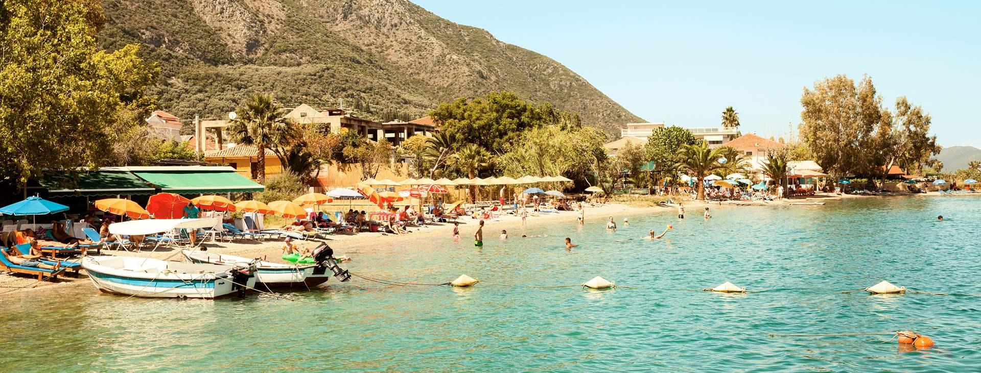 Bestill en reise med Ving til Nidri på den greske øya Lefkas