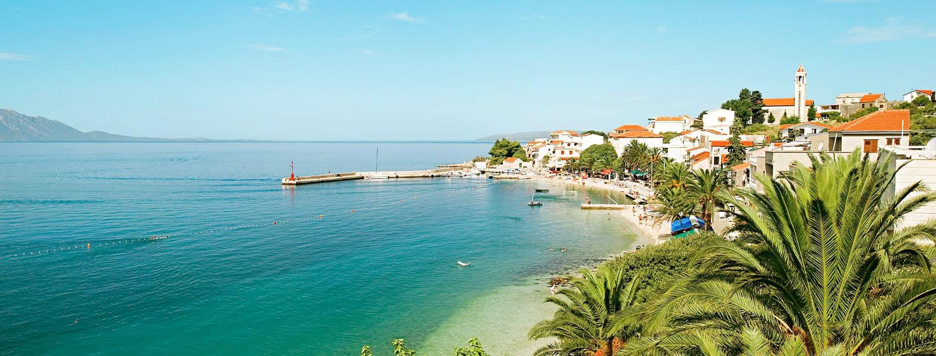 Reiser til Gradac på Makarska Riviera i Kroatia